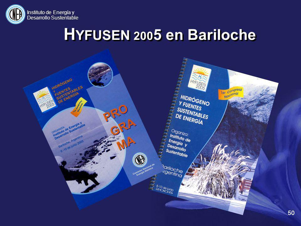 H YFUSEN 200 5 en Bariloche 50 Instituto de Energía y Desarrollo Sustentable