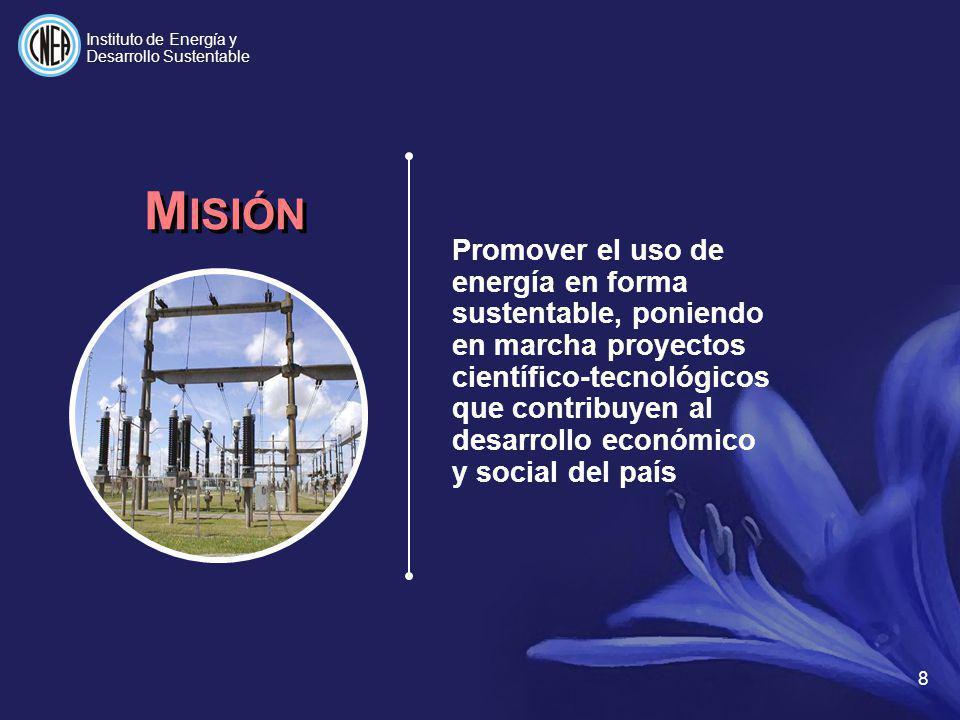 Uso energético Uso convencional INGENIERÍA DEL H Producción a partir de metano Uso cautivo Uso estacionario Producción a partir de agua Transporte Almacenamiento Distribución Uso móvil Nueva tecnología 19 Instituto de Energía y Desarrollo Sustentable