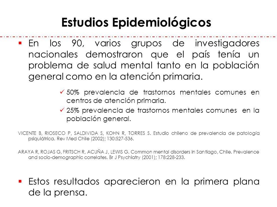 En los 90, varios grupos de investigadores nacionales demostraron que el país tenía un problema de salud mental tanto en la población general como en