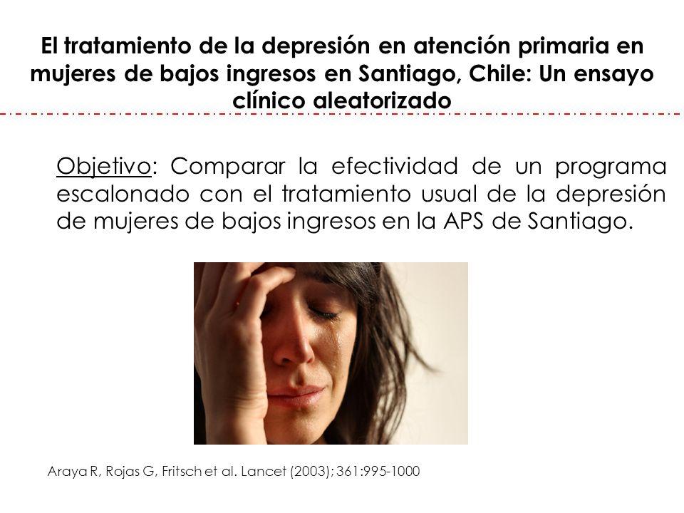El tratamiento de la depresión en atención primaria en mujeres de bajos ingresos en Santiago, Chile: Un ensayo clínico aleatorizado Objetivo: Comparar