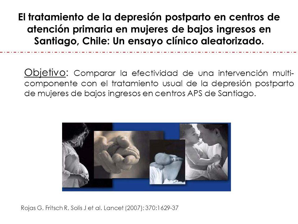 El tratamiento de la depresión postparto en centros de atención primaria en mujeres de bajos ingresos en Santiago, Chile: Un ensayo clínico aleatoriza