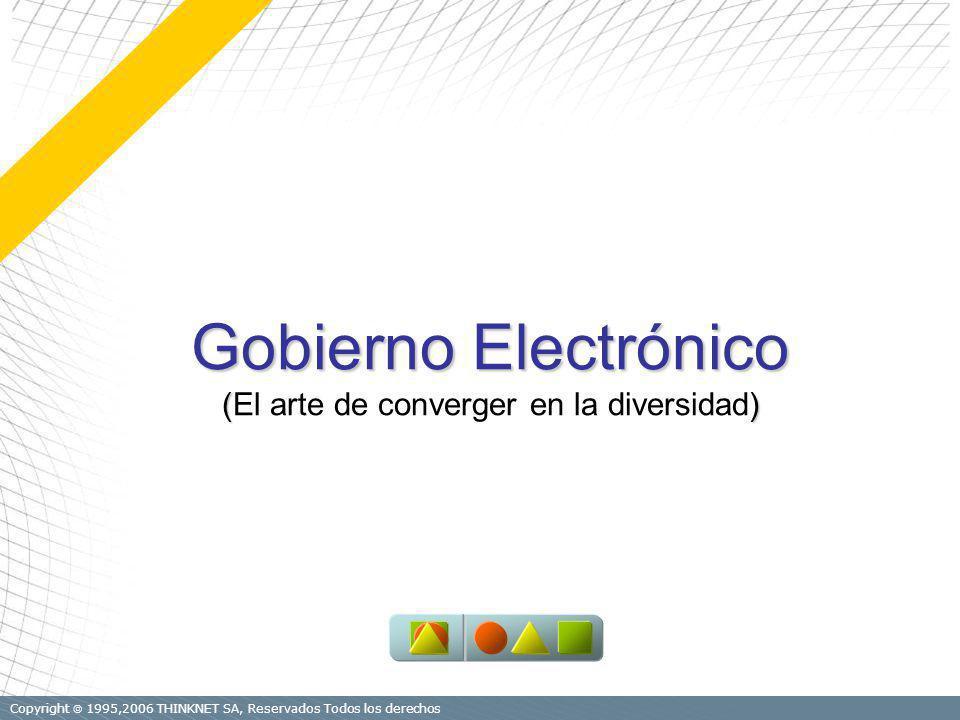 Copyright 1995,2006 THINKNET SA, Reservados Todos los derechos Gobierno Electrónico () (El arte de converger en la diversidad)