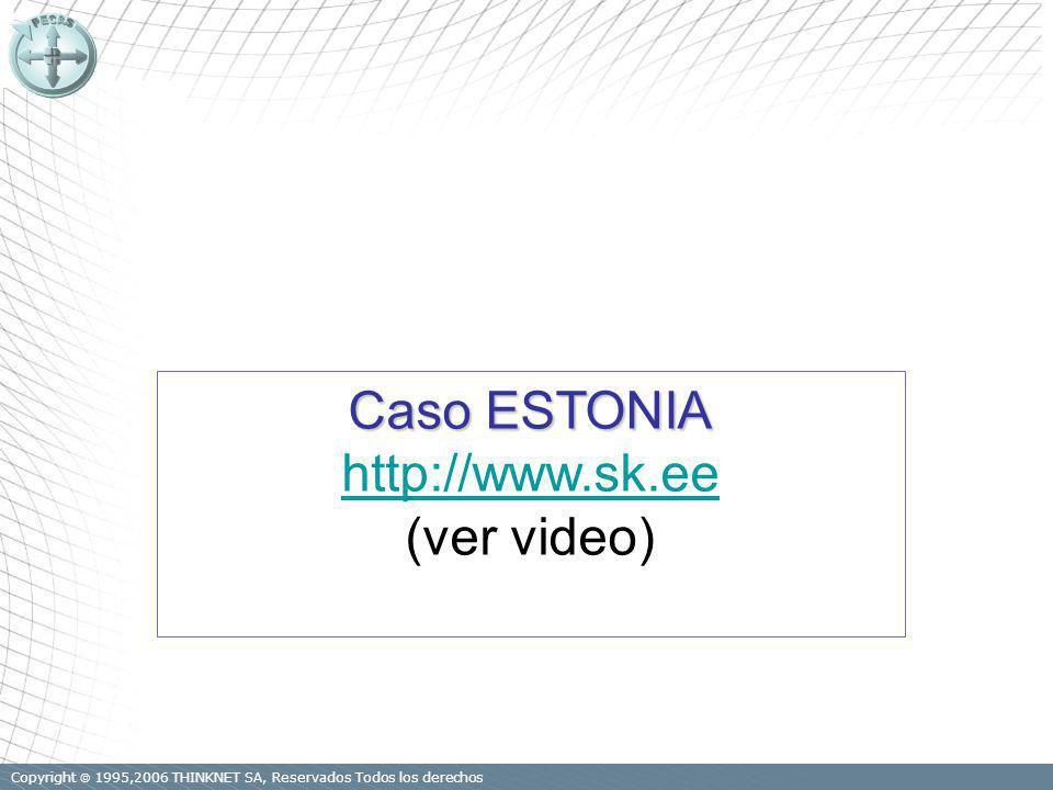 Copyright 1995,2006 THINKNET SA, Reservados Todos los derechos Caso ESTONIA http://www.sk.ee (ver video)