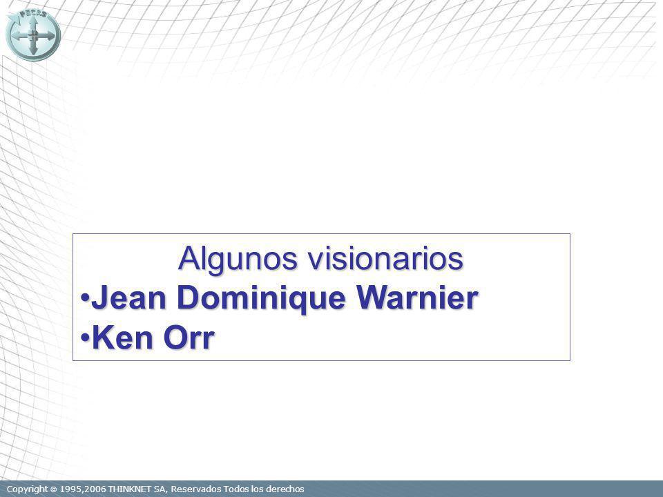 Copyright 1995,2006 THINKNET SA, Reservados Todos los derechos Algunos visionarios Jean Dominique WarnierJean Dominique Warnier Ken OrrKen Orr
