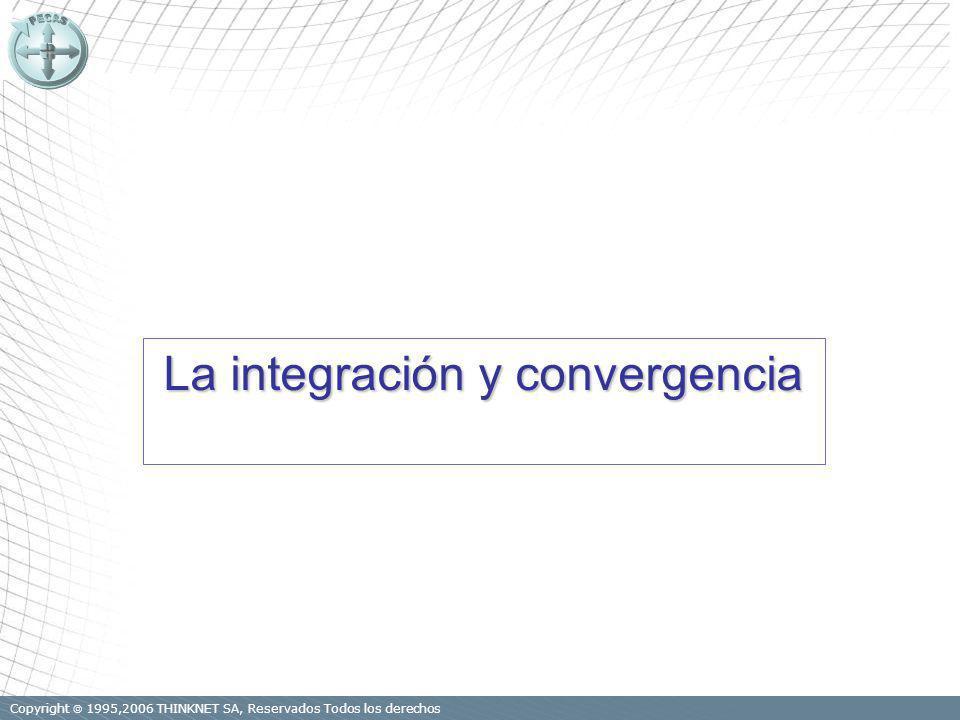 Copyright 1995,2006 THINKNET SA, Reservados Todos los derechos La integración y convergencia