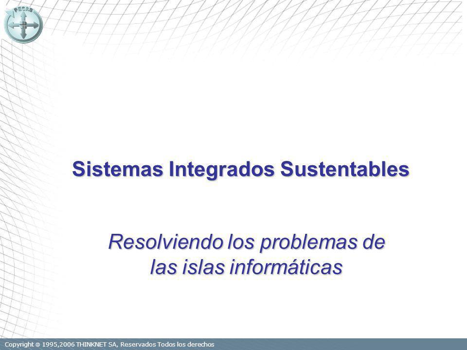 Copyright 1995,2006 THINKNET SA, Reservados Todos los derechos Sistemas Integrados Sustentables Resolviendo los problemas de las islas informáticas