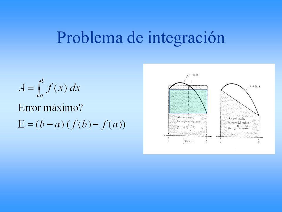 Problema de integración