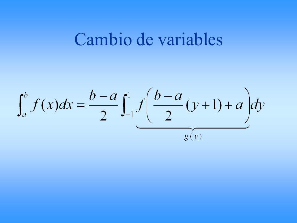 Cambio de variables