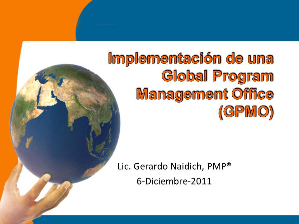 Antecedentes Definición Estratégica Corporativa Paso 1: Marco de transformación Paso 2: Nuevo Governance de IT Paso 3: Estructura de la GPMO Paso 4: Ejecución de Iniciativas Globales Conclusiones – Análisis de la GPMO Lic.