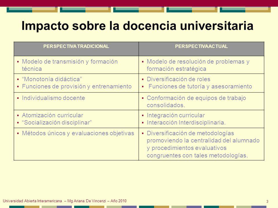 Función social de la Universidad Unesco (1998; 2009) Conferencia mundial sobre educación superior Universidad Abierta Interamericana – Mg Ariana De Vincenzi – Año 2010 4 Formar profesionales competentes y comprometidos con los problemas sociales y culturales.