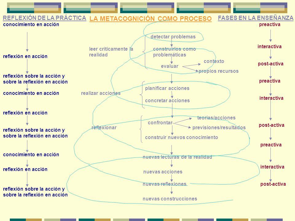 leer críticamente la realidad detectar problemas construirlos como problemáticas evaluar contexto propios recursos realizar acciones planificar accion