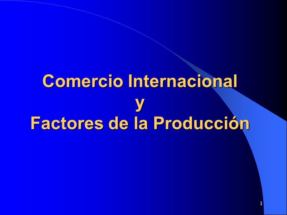 2 Dirección del Comercio determinada por P relat previos al comercio – Son función de las FPP de los países, que dependen de –tecnología (funciones de producción) y –dotación de factores condiciones de demanda (gustos) Supuestos clásicos