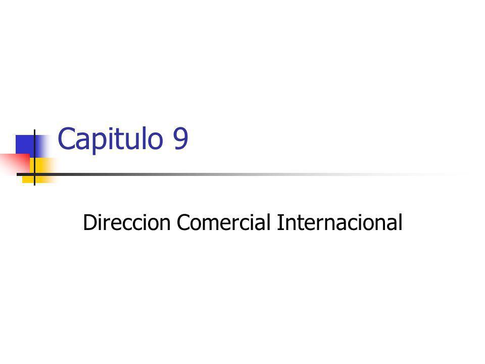 Capitulo 9 Direccion Comercial Internacional