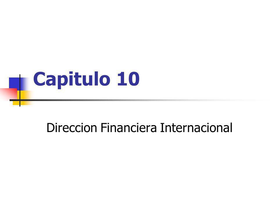 Capitulo 10 Direccion Financiera Internacional