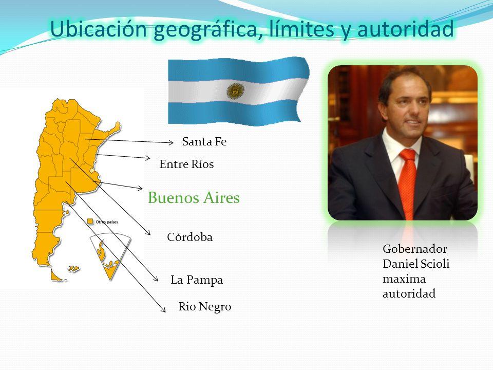 Buenos Aires Entre Ríos Santa Fe Córdoba La Pampa Rio Negro Gobernador Daniel Scioli maxima autoridad