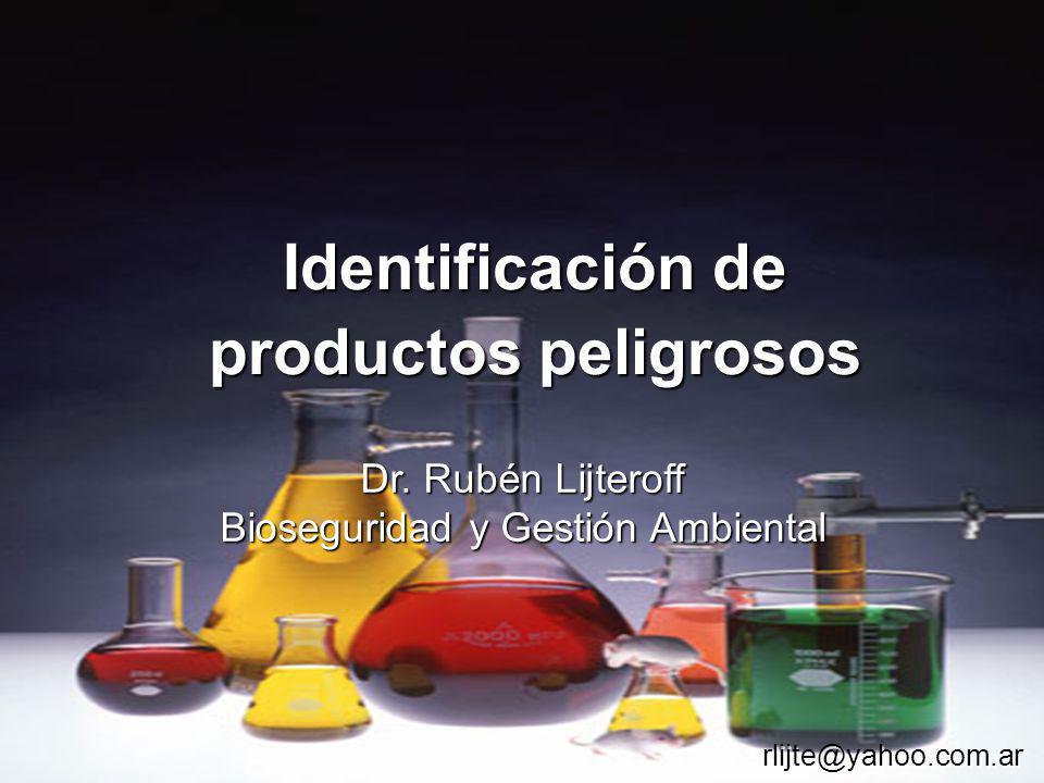 Identificación de productos peligrosos Dr.