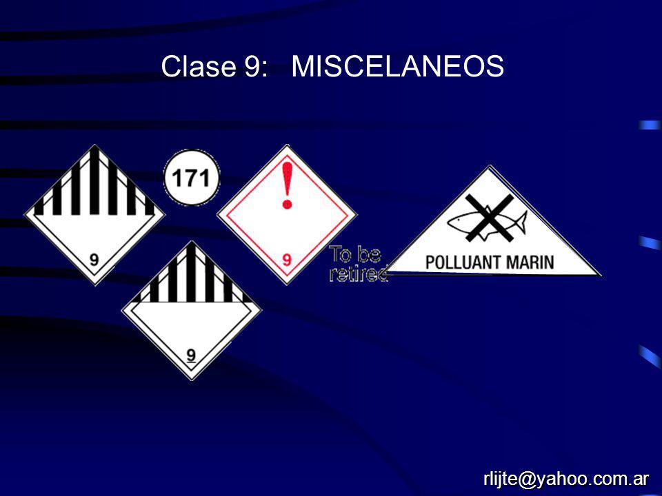 Clase 8: CORROSIVOS rlijte@yahoo.com.ar