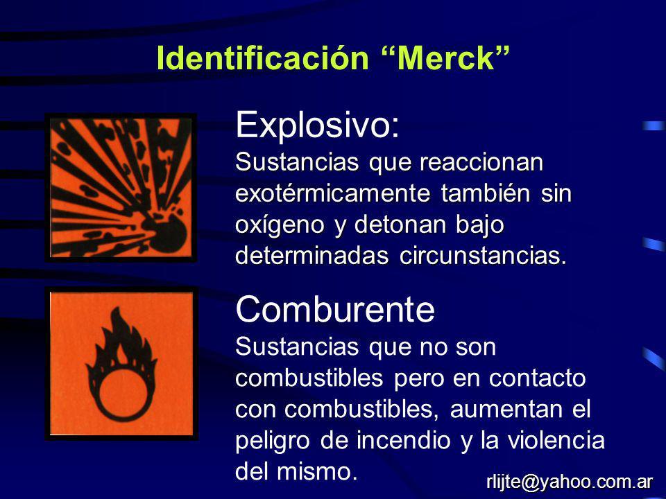 Naciones Unidas : identificación general X423 1428 Riesgo de la sustancia Numero de Naciones Unidas No usar agua Ej.: Sodio rlijte@yahoo.com.ar