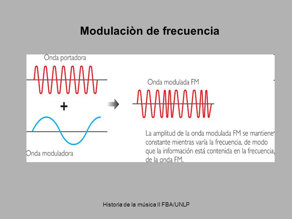 Historia de la música II FBA/UNLP Modulaciòn de frecuencia