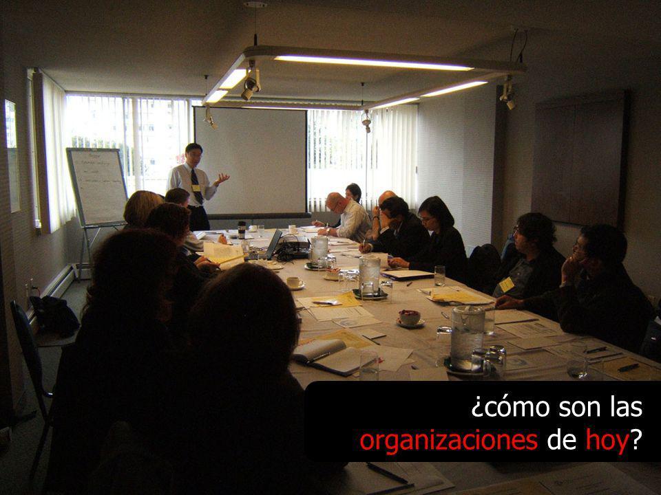 ¿cómo son las organizaciones de hoy?