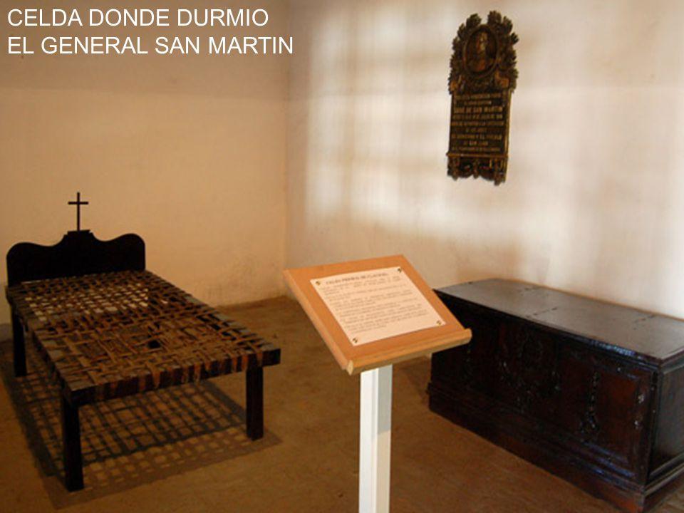 LUGAR DONDE SE HOSPEDO EL GENERAL SAN MARTIN CONVENTO DE SANTO DOMINGO
