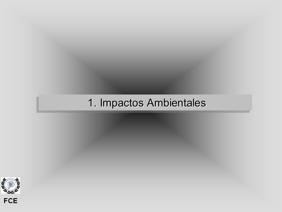 2. Impactos Ambientales y Territorio 2. Impactos Ambientales y Territorio FCE