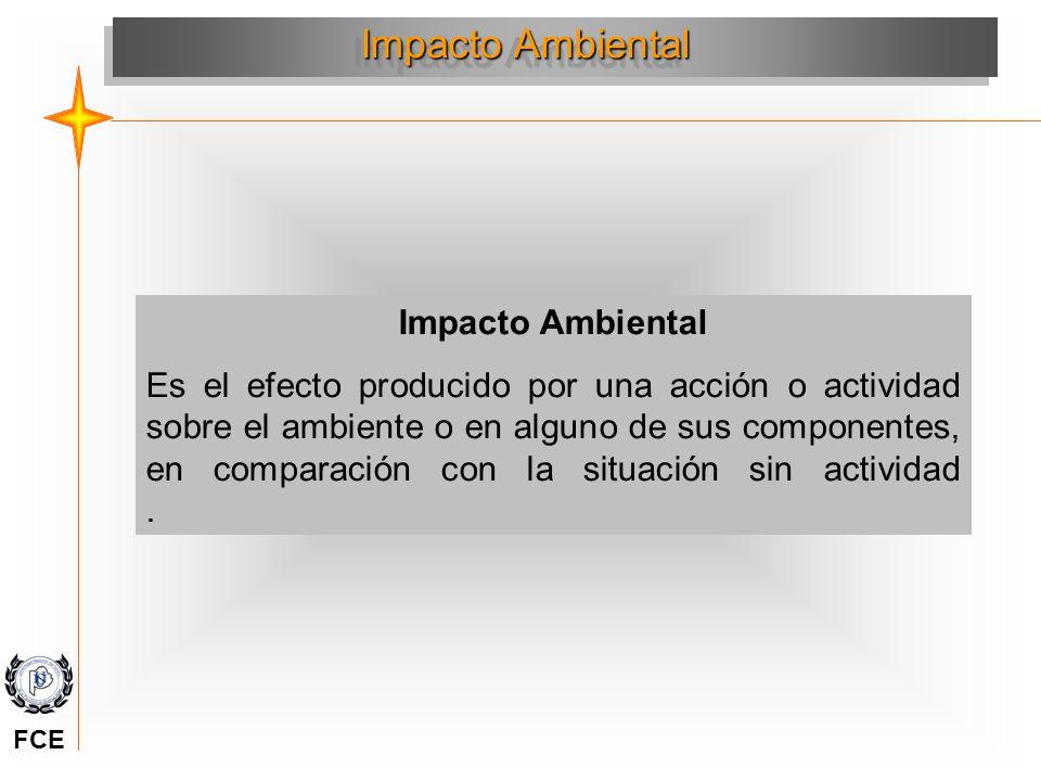 Evolución del ambiente e Impactos Antes acción Inicio acción Inicio impacto Medición impacto (+) (-) Factor ambiental Tiempo Evolución del factor sin acción Evolución del factor con acción Impacto Positivo y negativo (+) (-) Adaptado de Conesa F y Vitara 1997