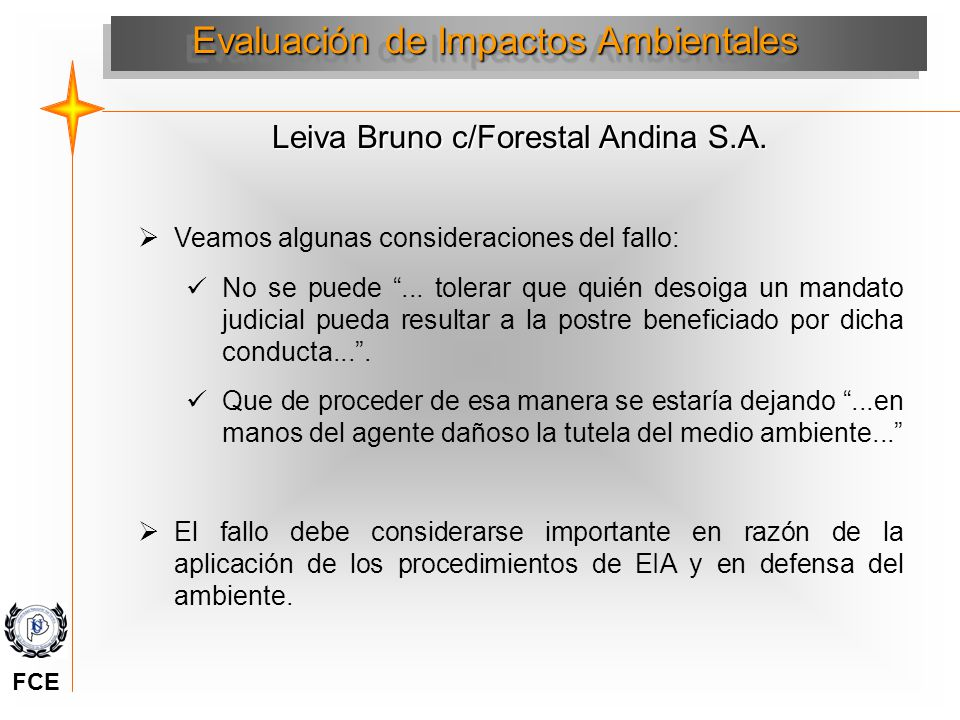 Leiva Bruno c/Forestal Andina S.A.