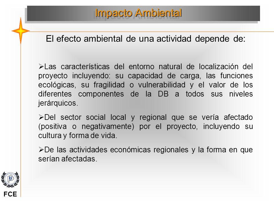 Evolución del ambiente e Impactos (+) (-) Factor ambiental Tiempo Evolución del factor sin acción Evolución del factor con acción Impacto Positivo y negativo (+) (-) Adaptado de Conesa F y Vitara 1997