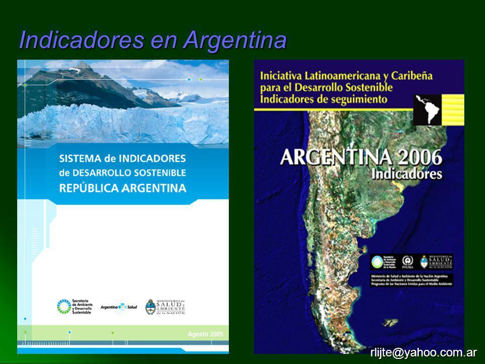 Indicadores en Argentina rlijte@yahoo.com.ar