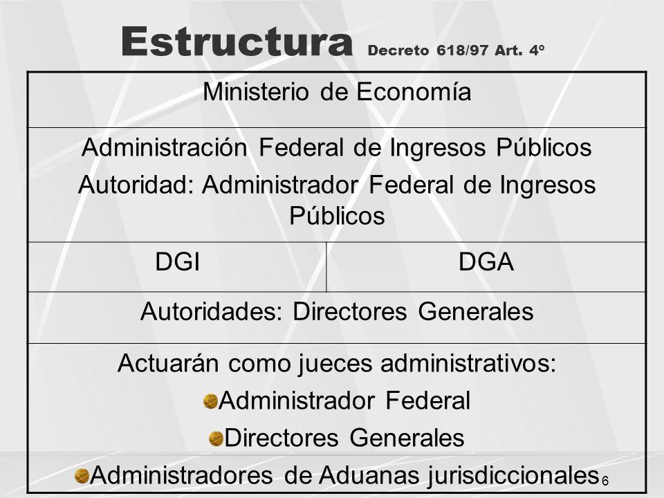 6 Estructura Decreto 618/97 Art.