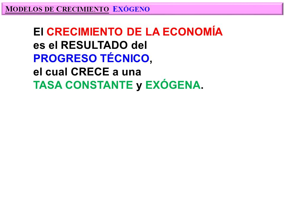 M ODELO DE CRECIMIENTO DE: S OLOW...