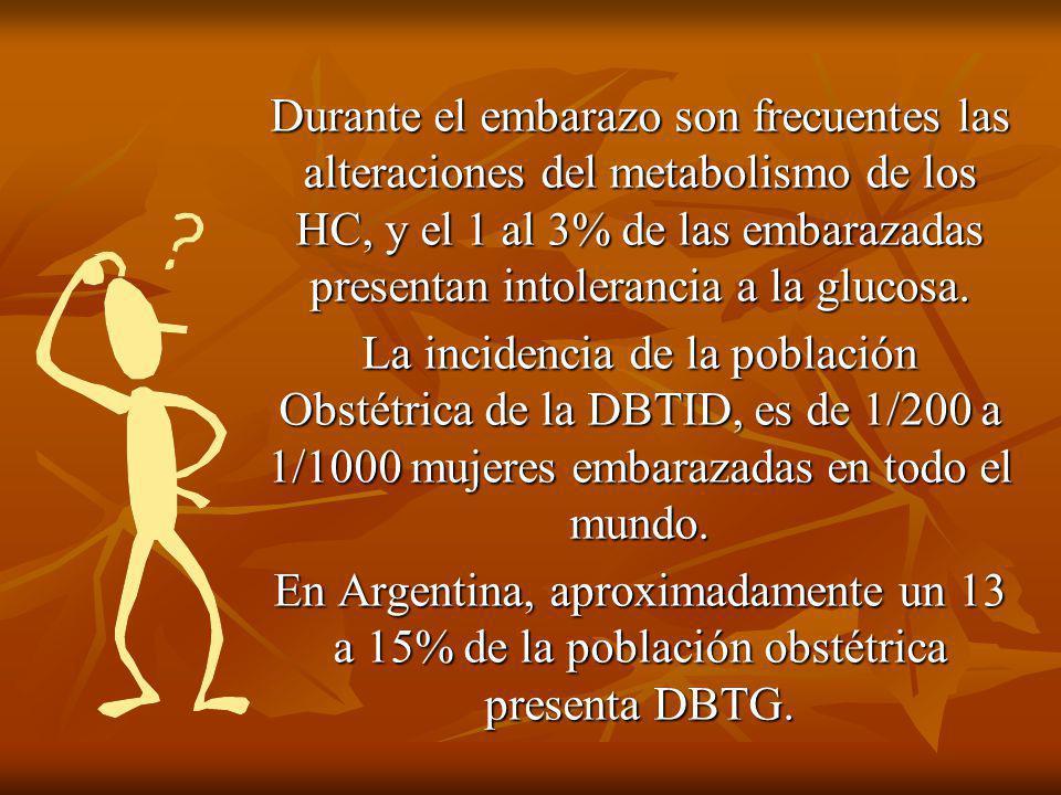 Objetivos del cuidado de la DBTG: 4 Detección de la embriopatía diabética.