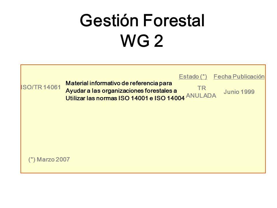 ISO/TR 14061 Material informativo de referencia para Ayudar a las organizaciones forestales a Utilizar las normas ISO 14001 e ISO 14004 TR ANULADA Jun