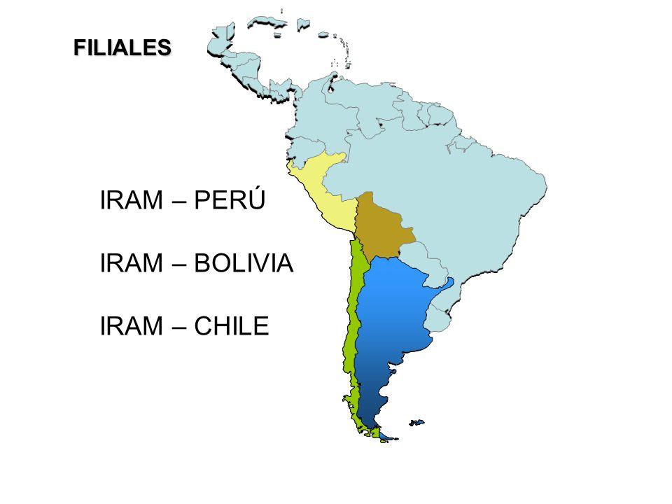 IRAM – PERÚ IRAM – BOLIVIA IRAM – CHILE FILIALES