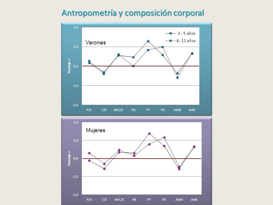 Varones Antropometría y composición corporal Antropometría y composición corporal