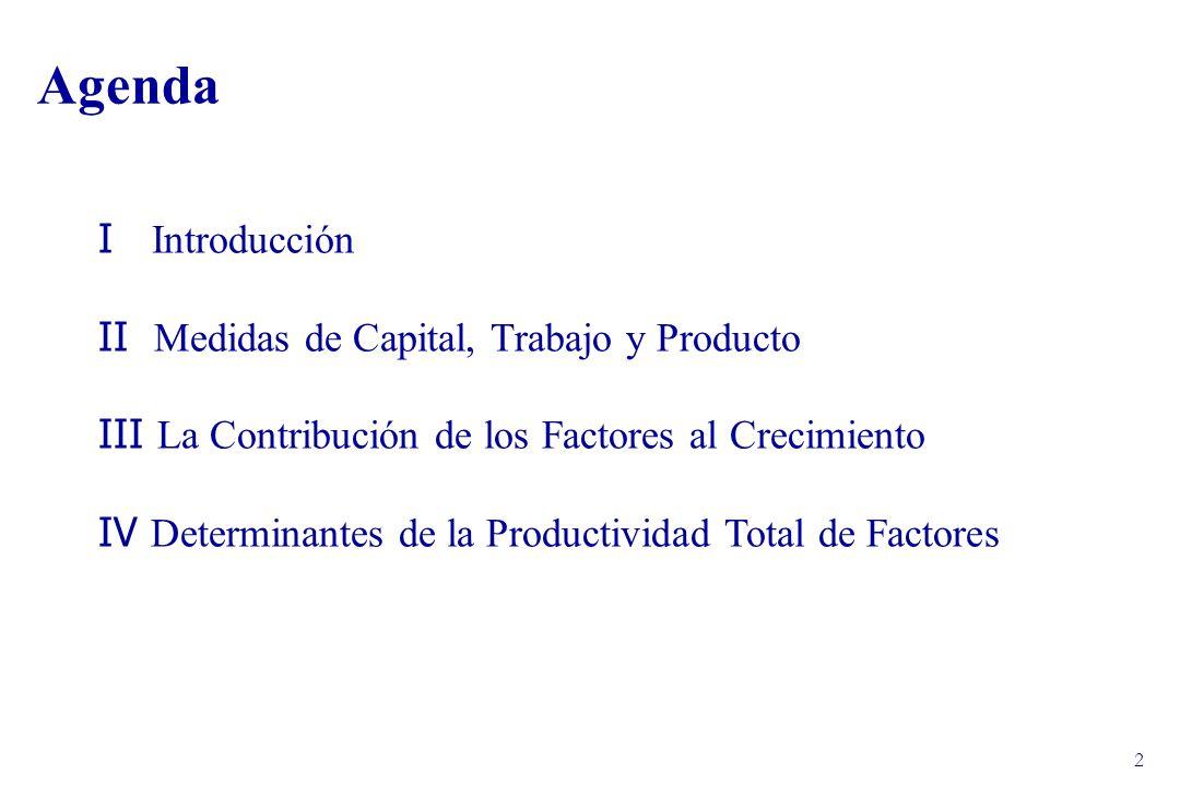 23 IV Determinantes de la PTF La evidencia plantea la pregunta respecto de cuáles son las causas cíclicas y de tendencia del estancamiento en la eficiencia de la economía chilena desde 1998.