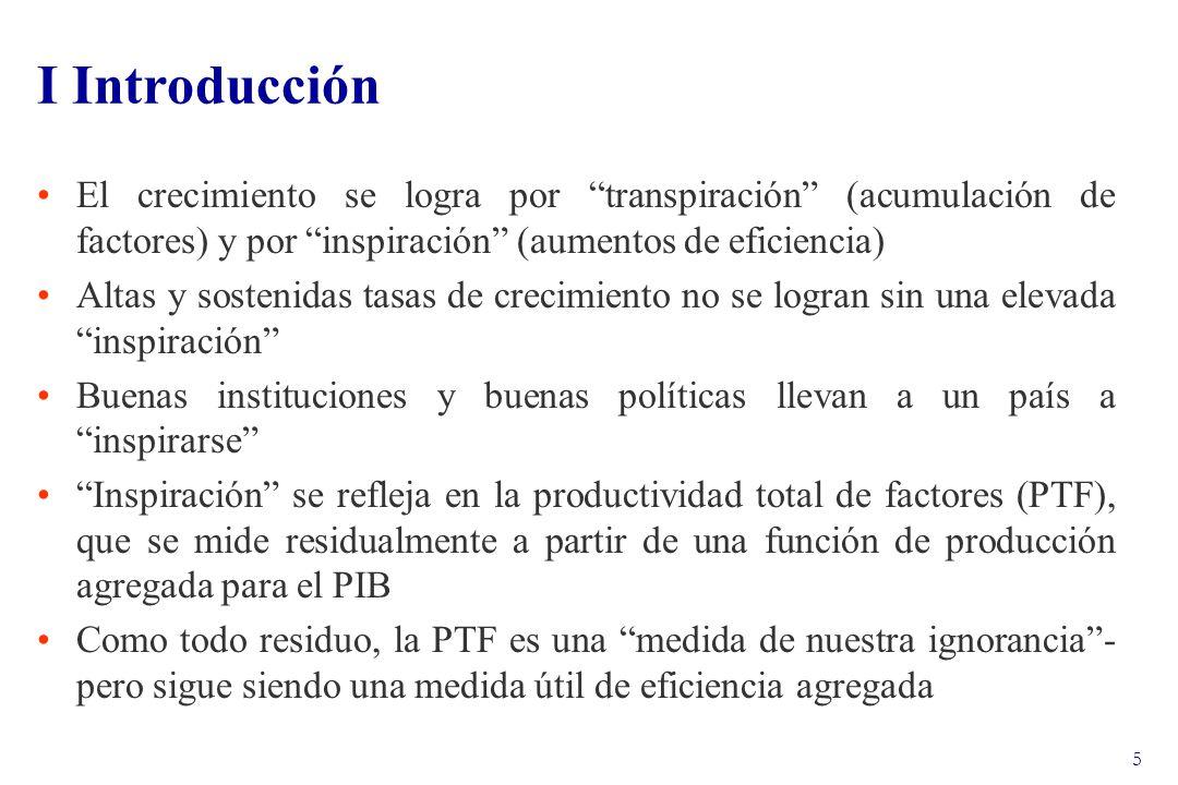 16 III La Contribución de los Factores al Crecimiento La participación del capital se obtiene de CCNN, ajustando por trabajadores de cuenta propia.