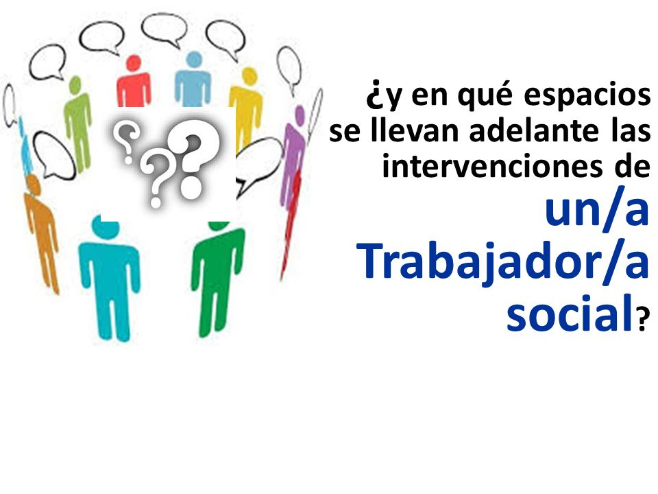 ¿ y en qué espacios se llevan adelante las intervenciones de un/a Trabajador/a social ?