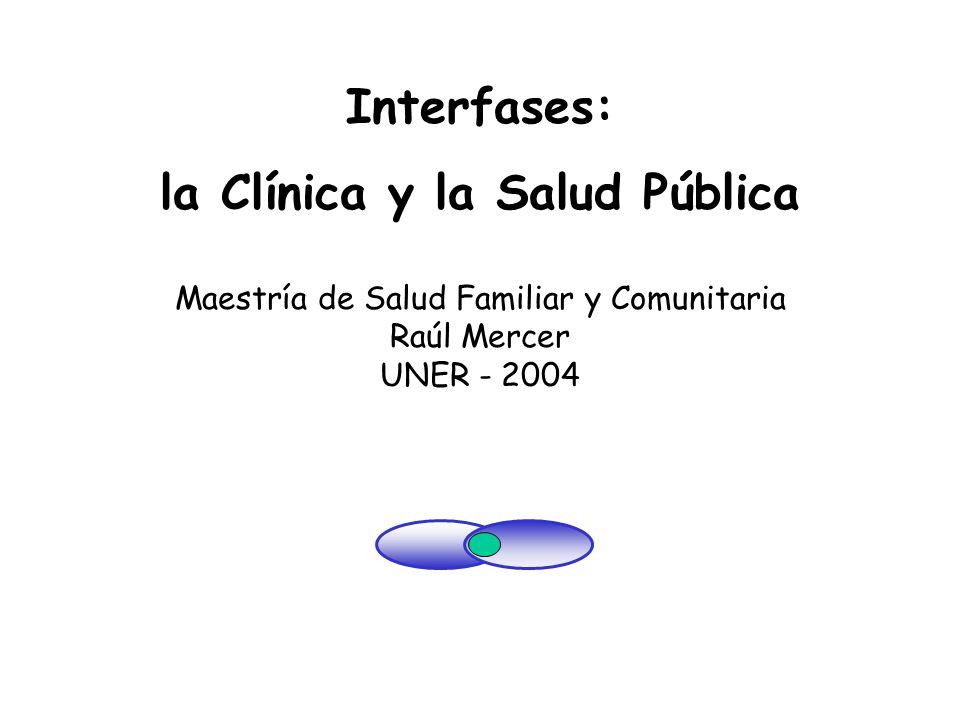 Interfases: la Clínica y la Salud Pública Maestría de Salud Familiar y Comunitaria Raúl Mercer UNER - 2004 La infancia y los cambios sociales Un lugar