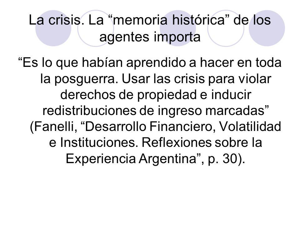 La crisis.