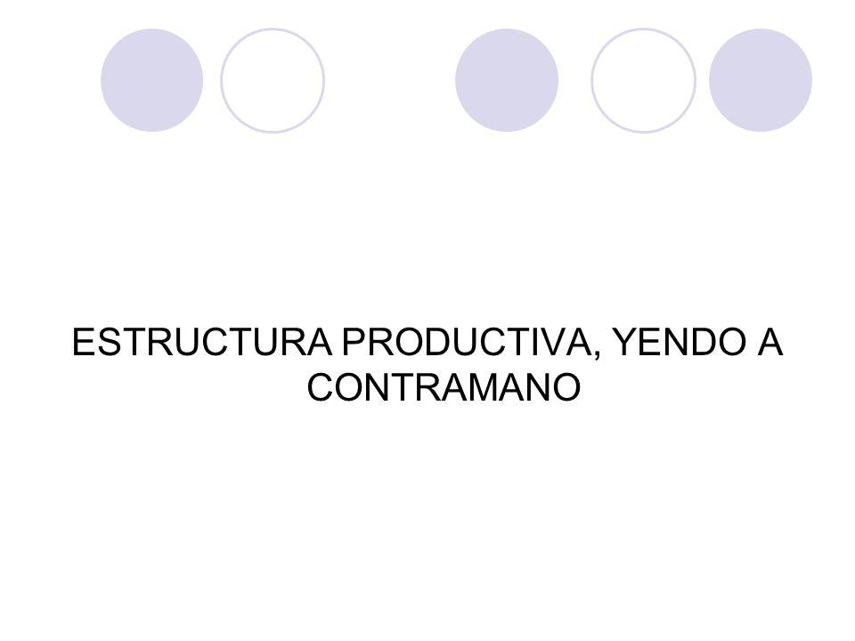 ESTRUCTURA PRODUCTIVA, YENDO A CONTRAMANO