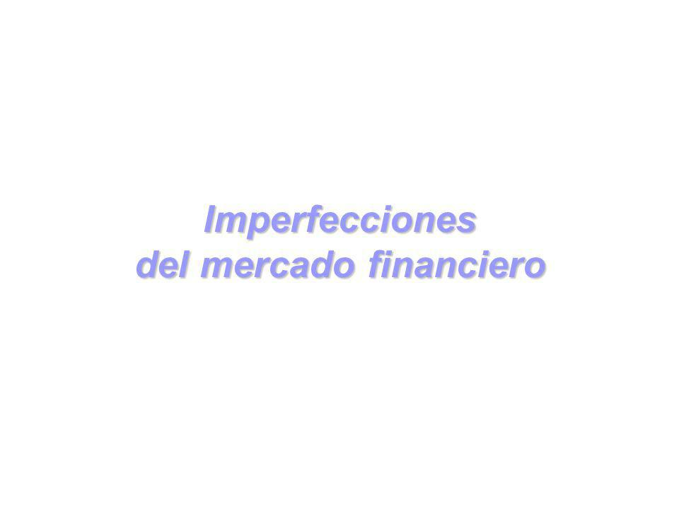Imperfecciones del mercado financiero