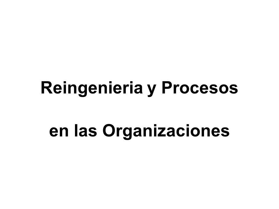 Reingenieria y Procesos en las Organizaciones