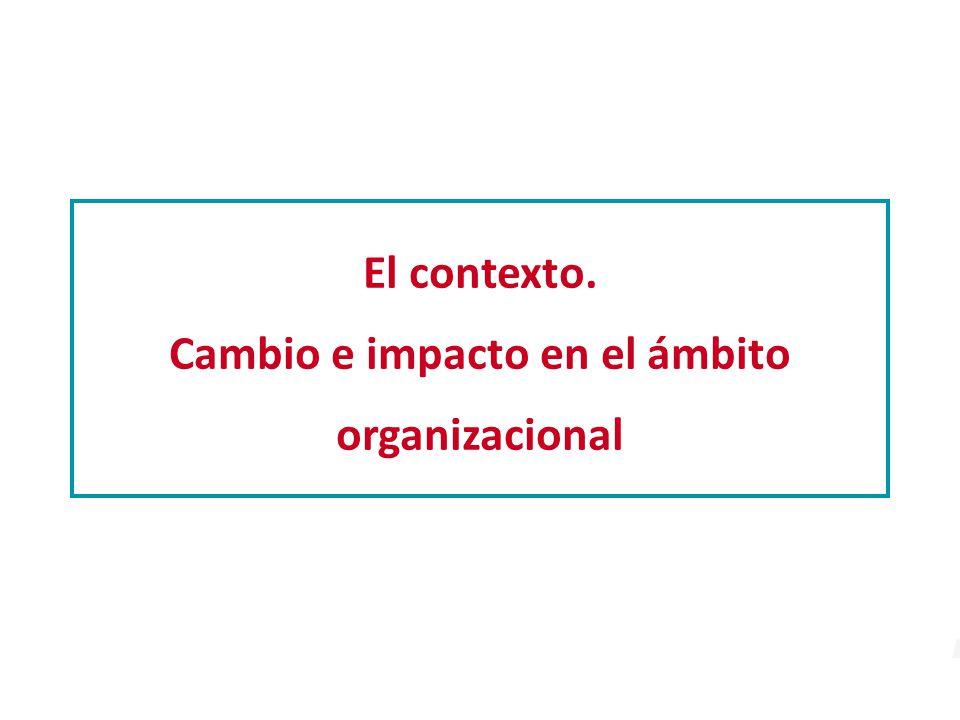 El contexto. Cambio e impacto en el ámbito organizacional
