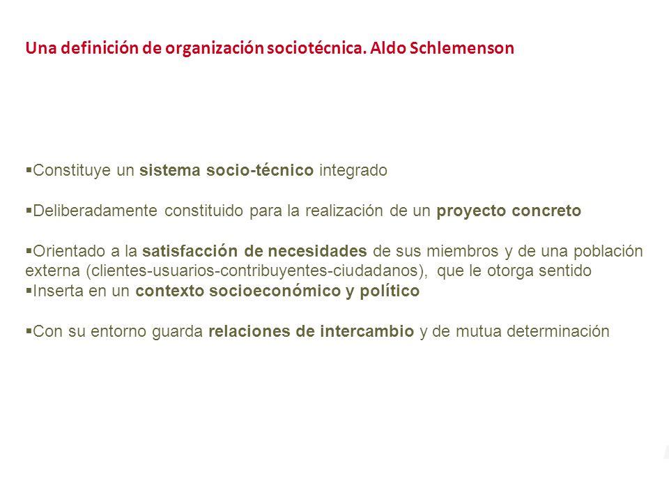 Una definición de organización sociotécnica.