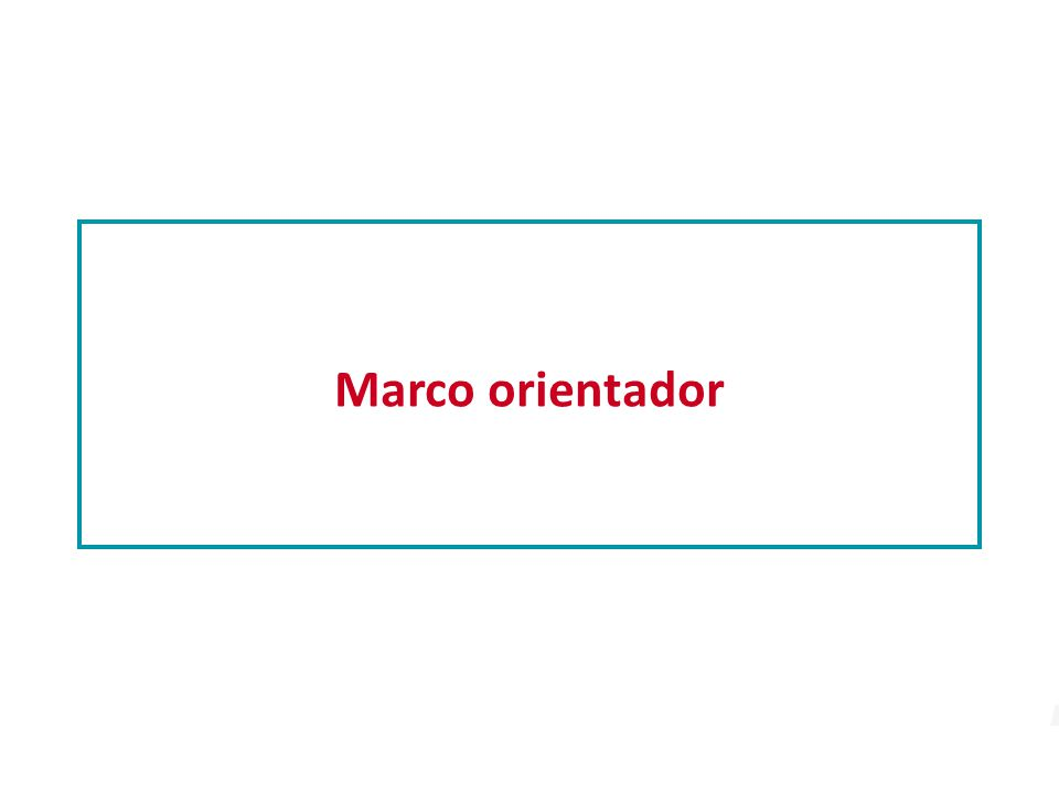Marco orientador