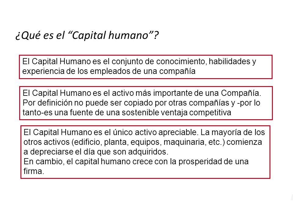 El Capital Humano es el único activo apreciable.