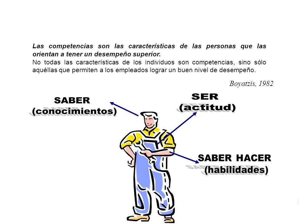 Competencias Las competencias son las características de las personas que las orientan a tener un desempeño superior.