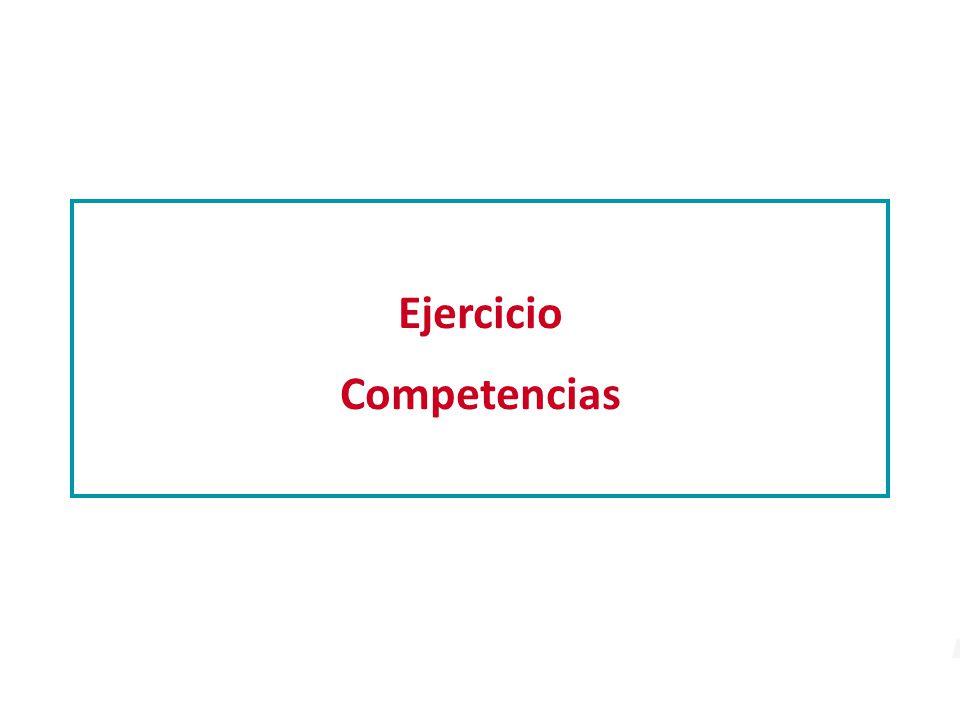 Ejercicio Competencias